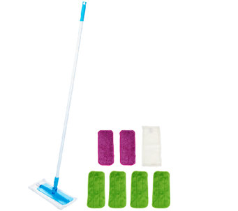 Don Aslett's Super-size Microfiber Mop with 8 Washable Pads - V33533