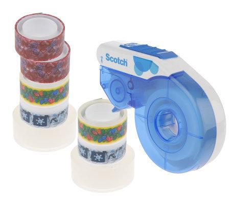 3M Scotch Refillable Tape Dispenser w/9 Decorative Tape Refills