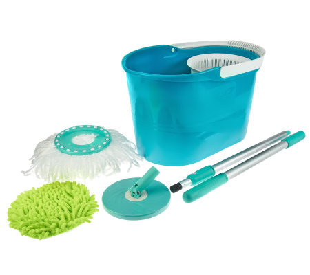 Spin & Go Pro Spin Mop w/ Mop Head & Duster Cover