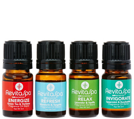 RevitaSpa Set of 4 Signature Blends Sampler Pack