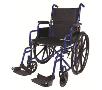 Carex Classics Large Seat Foldable Wheelchair - V119635