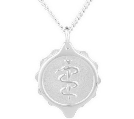 SOS Emergency St. Steel Medical ID Necklace with Pen