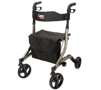 Carex CrossTour Side Folding Rolling Walker Rollator - V119637