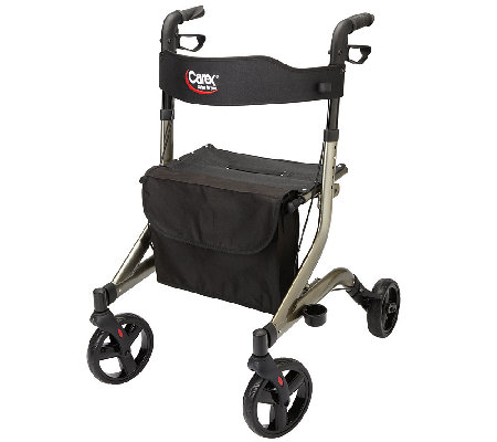 Carex CrossTour Side Folding Rolling Walker Rollator