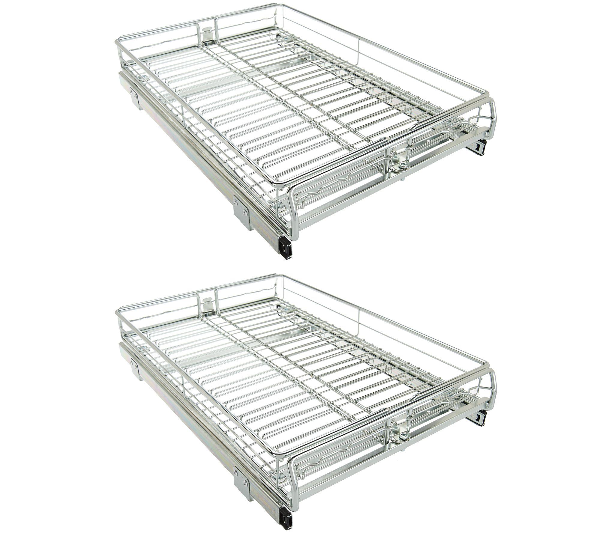 Pop-It Set of 2 Adjustable Sliding Cabinet Organizers - Page 1 ...