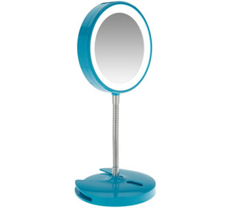 Conair 5X Magnification LED Mirror with Wall Mount - V34337