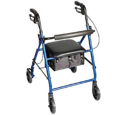 Carex Classics Folding Rolling Walker Rollator