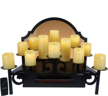Add instant ambience--and a touch of heat--to any room with the Duraflame candelabra heater. Page 1