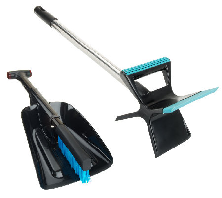 Snow Shovel w/ Snow Brush & Collapsible Ice Scraper