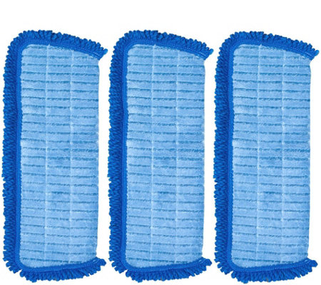 QuickMop Set of 3 3-in-1 Replacement Microfiber Pads