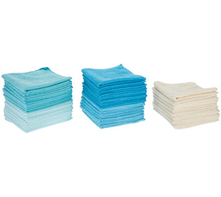 40 Piece Premium Microfiber Towel Set by Campanelli