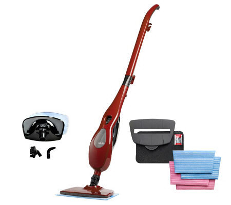 Haan Multi- Steam Cleaner with Handheld & 4MicrofiberPads withAttachments