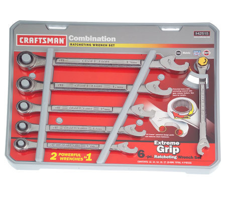 Craftsman 6pc. Extreme Ratcheting Wrench Set Metric