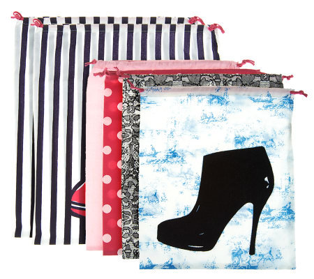 Jill Martin Second Edition Set of 6 Drawstring Shoe Bags