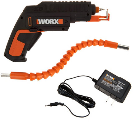 WORX 4V Lithium-Ion Screw Driver w/ Screw Holder & Flex Extender