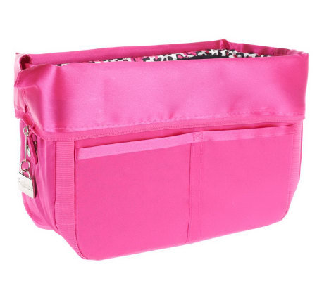 """As Is"" Pursfection Portable Purse Organizer w/ Zipper Closure"