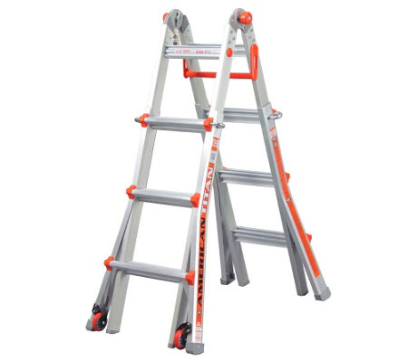 """As Is"" Little Giant 18-in-1 15' Ladder w/Wheel Kit & Work Platform"