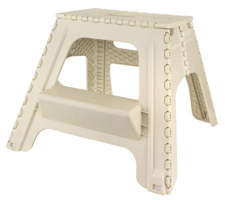 E-Z Foldz 17  Sturdy Lightweight Folding 2-Step Stool  sc 1 st  QVC.com & E-Z Foldz 17