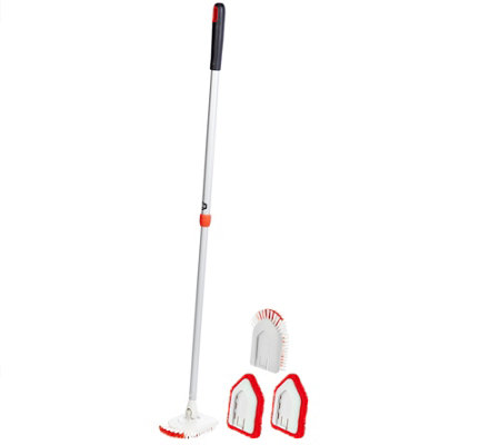 OXO Good Grips Extendable Tub & Tile Brush Scrubber & Extra Heads