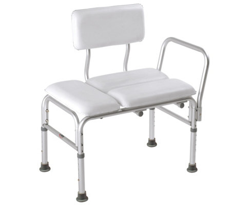 Carex Deluxe Padded Transfer Bench with Reversible Back