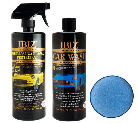 IBIZ Waterless Wash Wax Protectant & World Class Car Wash