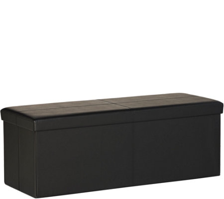 Faux Leather 42 Folding Storage Bench By Fhe Page 1