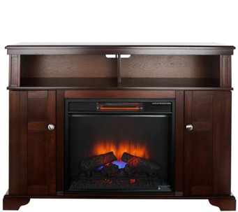 """As Is"" Merino Duraflame Infrared Quartz Corner or Wall Fireplace - V127154"
