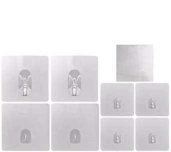 Set of 8 Reusable Magic Hooks w/Sticky Notes - V34154