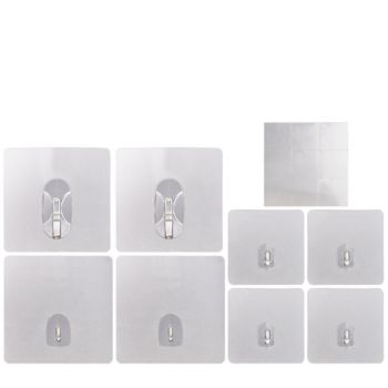 Set of 8 Reusable Magic Hooks w/Sticky Notes