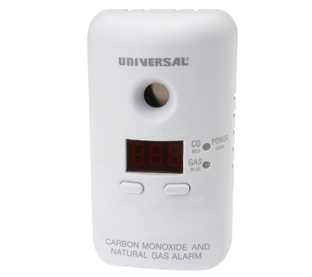 USI Plug-In Carbon Monoxide & Natural Gas Alarm with Back-Up Battery