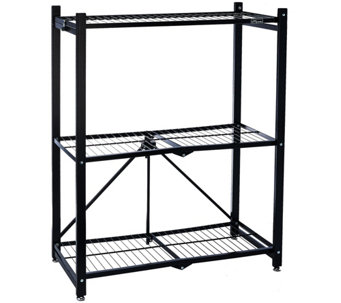 Pop-It 3-Tier Collapsible Storage Shelf with Wheels - V33856