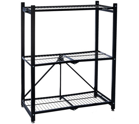 Pop-It 3-Tier Collapsible Storage Shelf with Wheels
