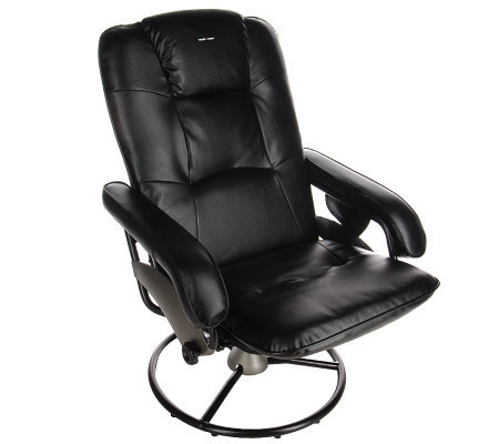 Health-O-Meter Reclining Faux Leather Massage Chair with Heat