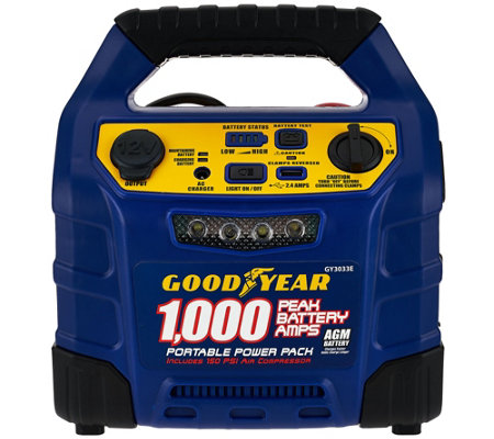 GoodYear 1000 Peak Amp Jump Starter With Air Compressor