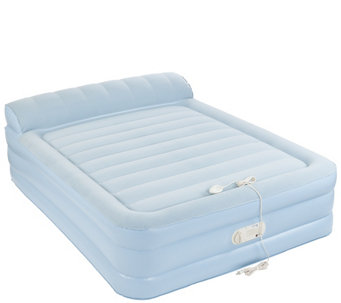 "Aerobed Queen Size 18"" Elevated Bed with Headrest & Built-in Pump - V34458"