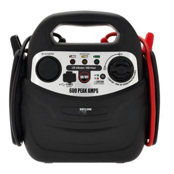 SecureAuto 600 Peak Amp Jump Starter w/ Air Compressor