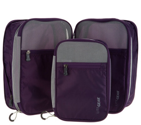 Lite Gear Set of 3 Carry-On Travel Kompression Kubes