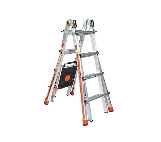 Little Giant Titanx 24 In 1 17 Ladder With Air Deck And Wheel Kit Qvc Com