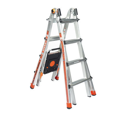 Little Giant TitanX 24-in-1 17' Ladder with Air Deck and Wheel Kit