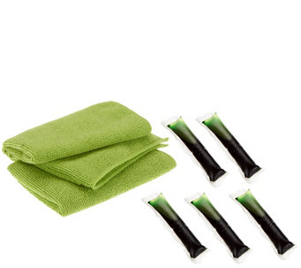 Green Gobbler 5 pc Ultra Pacs Refill Kit with 2 Microfiber Cleaning Cloths - V33462