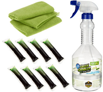 Green Gobbler 8 Ultra Pacs Cleaning Concentrate w/ Bottle & Cloths - V33463