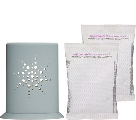 Rejuvenate Homefresh S/2 Odor & Moisture Packs with Decor Holder