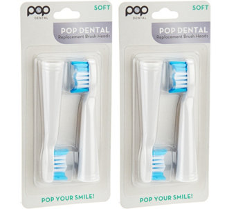 Pop Sonic Set of 4 Brush Heads for Pop Sonic and Go Sonic - V34763