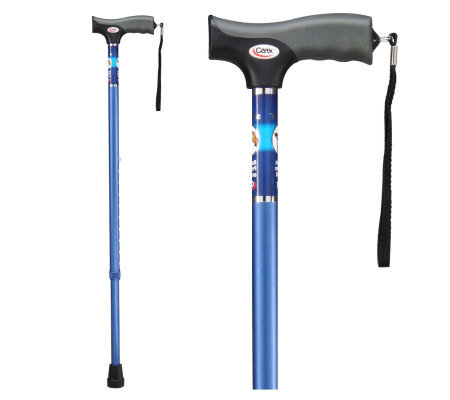 Carex Soft Grip Cane-Blue