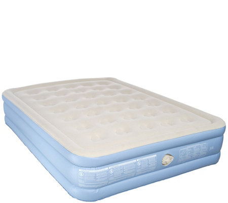 "Aerobed Queen Size 16"" Elevated Bed with Handheld Pump"