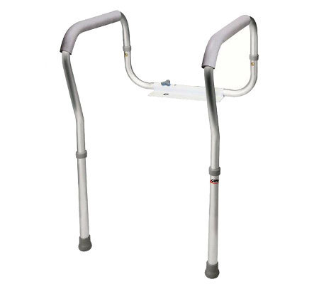 Carex Adjustable Height Toilet Safety Frame