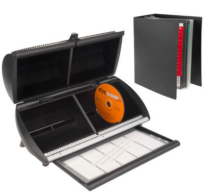 DiscGear 100 Disc Media Storage Organizer with Index Album