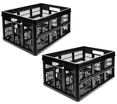 Clever Crates Set of 2 Large Collapsible Utility & Storage Crates