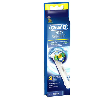 from Mitchell oral b pro white brush head