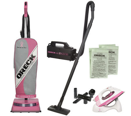 Oreck XL Ultra Special Edition Susan G Komen 8lbVacuum With Canister Iron